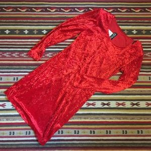 vintage All That Jazz crushed red velvet bodycon